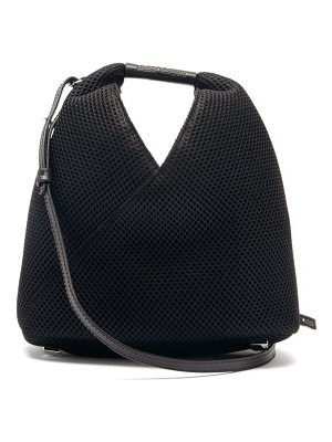 MM6 Maison Margiela japanese mini mesh and faux-leather shoulder bag