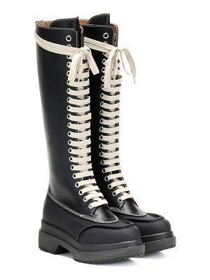 MM6 Maison Margiela knee-high leather boots