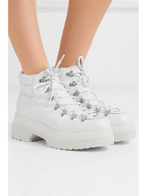 MM6 Maison Margiela lace-up leather ankle boots