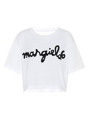 MM6 Maison Margiela logo cropped cotton t-shirt