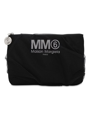 MM6 Maison Margiela Medium techno & tulle clutch