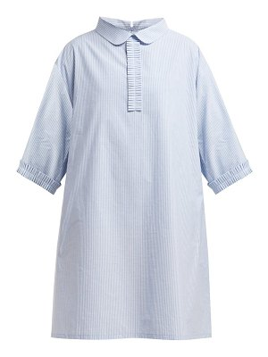 MM6 Maison Margiela pleated trim cotton poplin shirtdress