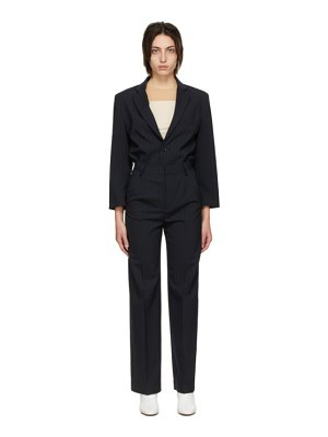 MM6 Maison Margiela navy wool pinstripe jumpsuit