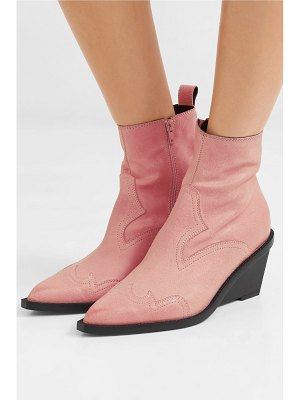 MM6 Maison Margiela nubuck wedge ankle boots