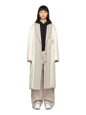MM6 Maison Margiela off-white inside-out coat