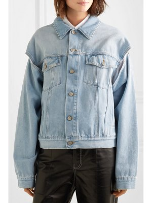 MM6 Maison Margiela oversized cutout denim jacket