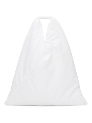MM6 Maison Margiela white padded japanese tote
