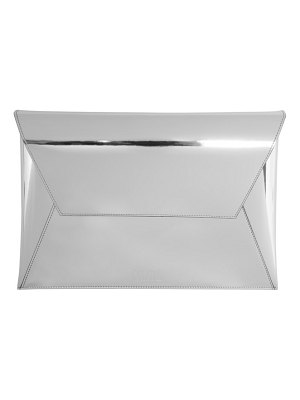 MM6 Maison Margiela silver fold over clutch