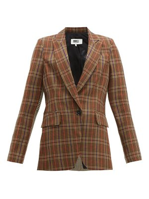 MM6 Maison Margiela single breasted two tone checked blazer