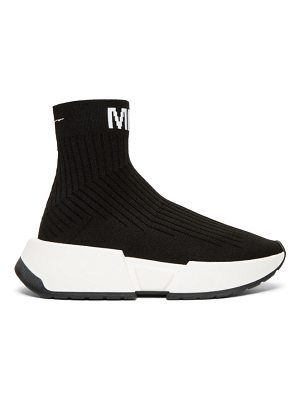 MM6 Maison Margiela black sock high-top sneakers