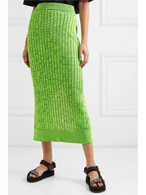 MM6 Maison Margiela space-dyed ribbed-knit pencil skirt