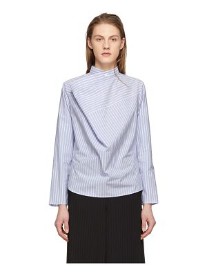 MM6 Maison Margiela Striped Draped Front Shirt