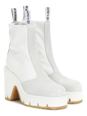 MM6 Maison Margiela suede-trimmed ankle boots