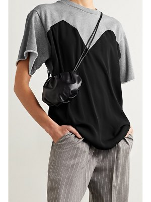 MM6 Maison Margiela trompe-l'ail belted jersey and mélange french cotton-terry top