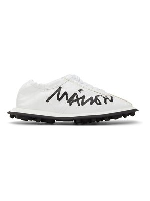 MM6 Maison Margiela white 6 racer sneakers