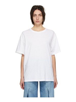 MM6 Maison Margiela white back logo t-shirt