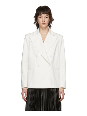 MM6 Maison Margiela white denim blazer