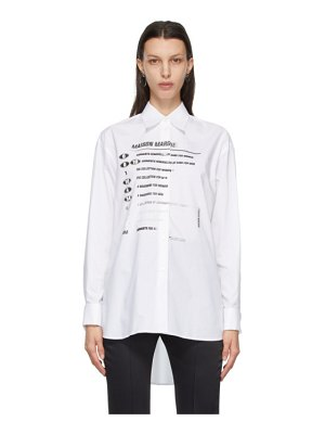 MM6 Maison Margiela white motocross logo shirt