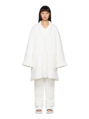 MM6 Maison Margiela white padded cardigan