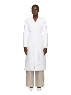 MM6 Maison Margiela white padded wrap coat