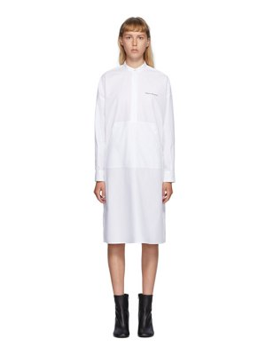 MM6 Maison Margiela white poplin pocket dress