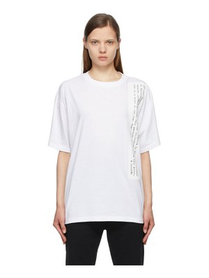 MM6 Maison Margiela white text graphic t-shirt
