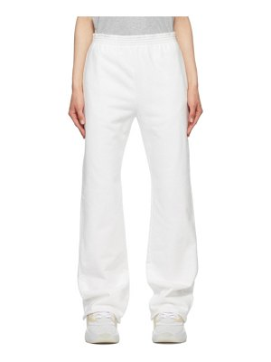 MM6 Maison Margiela white unbrushed basic lounge pants