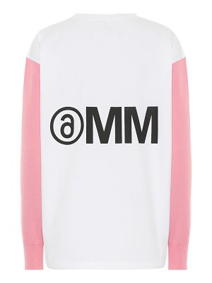 MM6 Maison Margiela wool-trimmed cotton sweatshirt