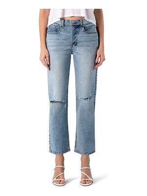 MODERN AMERICAN highland ripped high waist ankle straight leg jeans