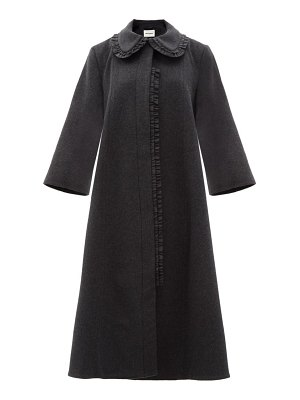 MOLLY GODDARD charlene frilled wool-blend coat