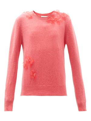 MOLLY GODDARD luca floral-appliqué lambswool sweater