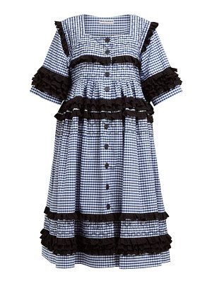 MOLLY GODDARD macy gingham cotton midi dress