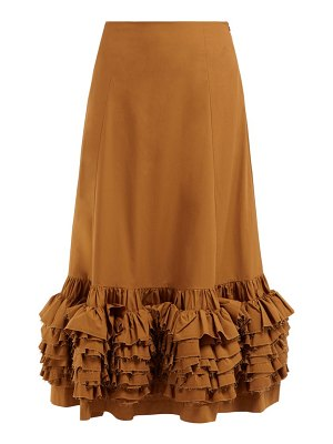 MOLLY GODDARD nora ruffled cotton skirt