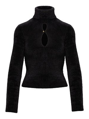 Moncler 2  1952 ribbed chenille cropped turtleneck