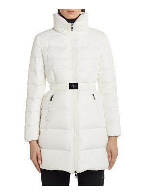 Moncler accenteur belted quilted down puffer coat