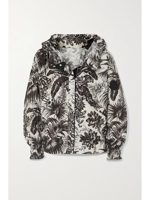 Moncler albireo hooded floral-print shell jacket