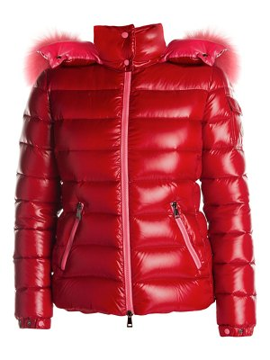 Moncler bady fox fur trim puffer jacket
