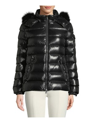 Moncler Badyfur Puffer Jacket w/ Removable Fur Hood