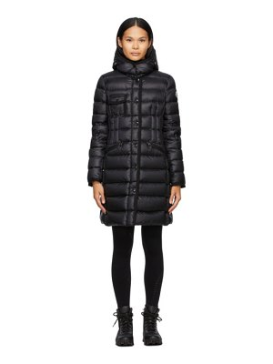 Moncler black down hermine coat
