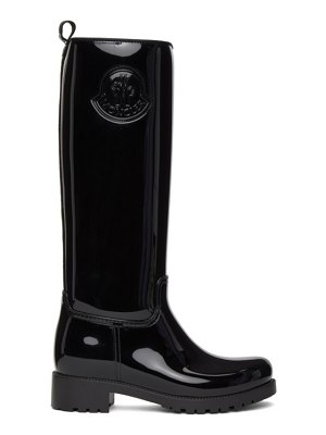 Moncler black ginger tall boots