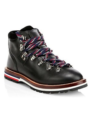 Moncler blanche leather hiking boots