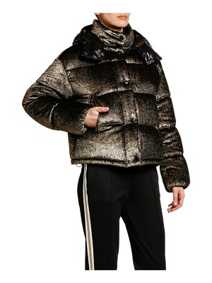 Moncler Caille Puffer Jacket w/ Contrast Hood