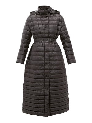 Moncler chocolat quilted-down coat