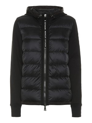 Moncler cotton-jersey down hoodie