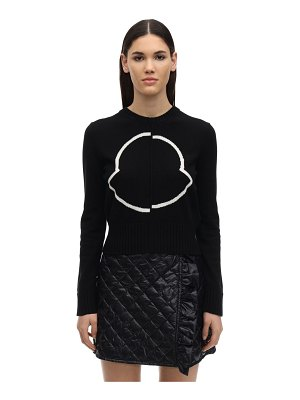 Moncler Cropped virgin wool & cashmere sweater