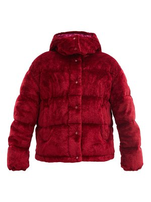 Moncler daos hooded quilted-velvet down jacket