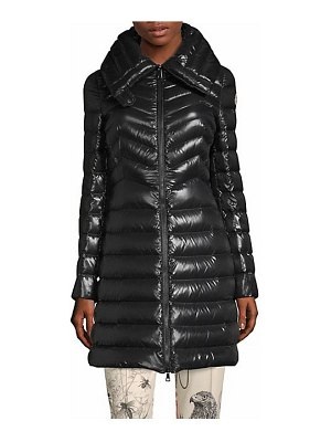 Moncler faucon chevron a-line coat