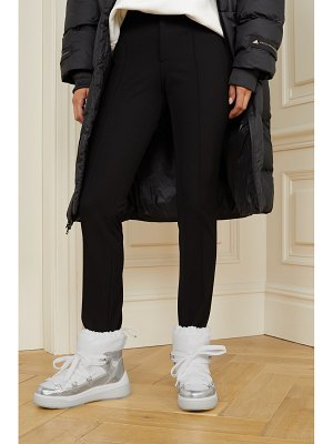 Moncler florine metallic leather and padded shell ankle boots