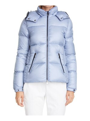 Moncler fourmi water resistant hooded down puffer coat
