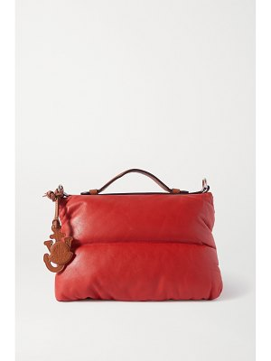 Moncler Genius + 1 jw anderson quilted padded shell and leather tote